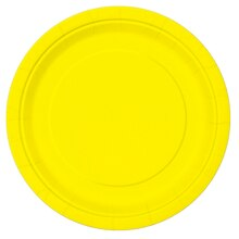 "9"" Neon Yellow Party Plates, 16ct"